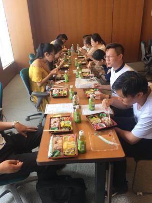 0726橋本市民病院見学昼食1